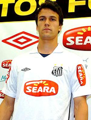 rodrigo possebon com a camisa do santos (Foto: Divulgação / Site Oficial do Santos FC)