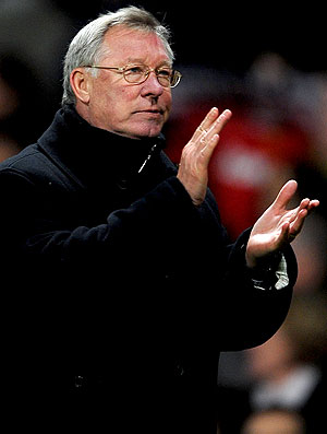 Alex Ferguson na partida do Manchester United