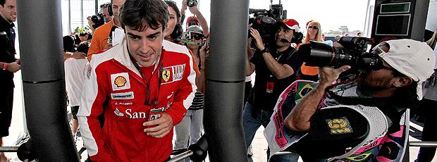 Fernando Alonso chega a Interlagos GP do Brasil