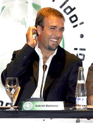 Arquivo - gabriel batistuta , ex-jogador argentino