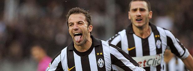 Del Piero comemora gol do Juventus