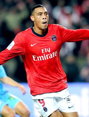 Paris-Saint-Germain Guillaume Hoarau no jogo contra Marseille