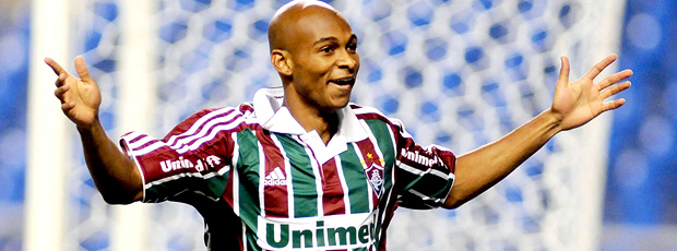 Tartá comemora no jogo entre Fluminense e Vasco