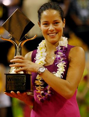Ana Ivanovic tênis troféu Bali final
