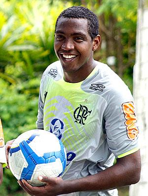 Renato no treino do Flamengo