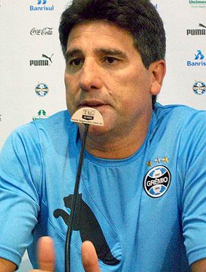 Renato Gaúcho durante coletiva do Grêmio