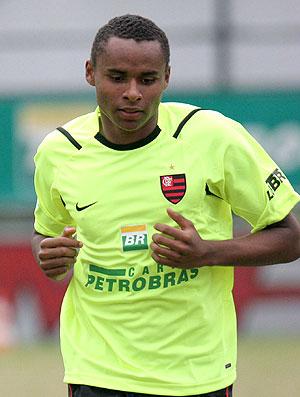 Jajá Coelho no treino do Flamengo com Bruno (Foto: Ag. Xpress)