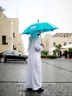 chuva durante o treino livre da F1 em Abu Dhabi