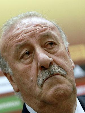 Vicente del Bosque durante convocação seleção da Espanha