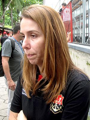 Patrícia Amorim, presidente do Flamengo, durante aniversário