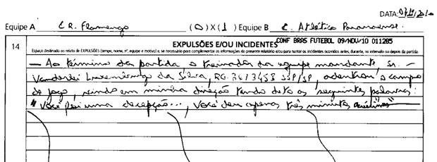 sumula flamengo x atlético-pr