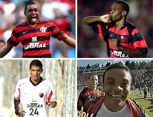 montagem Flamengo Obina Juan Felipe Melo Roma