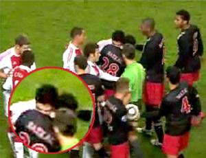 Frame Mordida Luis Suarez PSV x Ajax