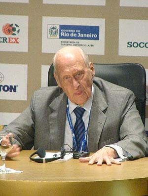 João Havelange no soccerex (Foto: Márcio Iannaca / GLOBOESPORTE.COM)