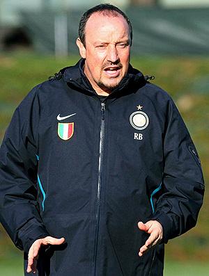 Rafael Benítez no treino do Inter de Milão