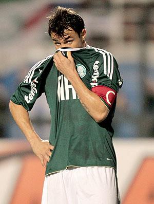Kleber na partida do Palmeiras contra o Goiás