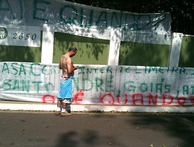 Protesto torcida Palmeiras
