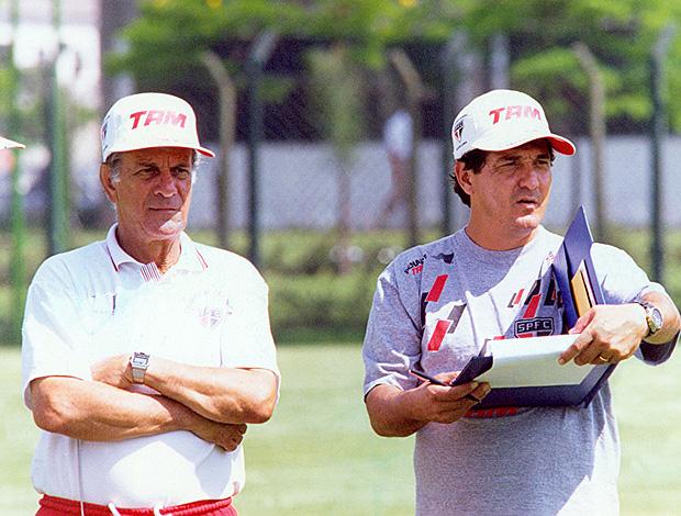 Telê Santana e Muricy Ramalho no São Paulo 1995