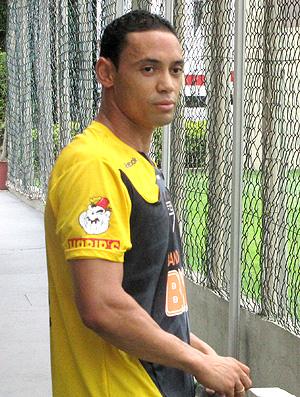 Ricardo Oliveira e Rodrigo Souto no treino do São Paulo