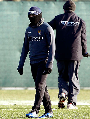 Tevez no treino do Manchester City