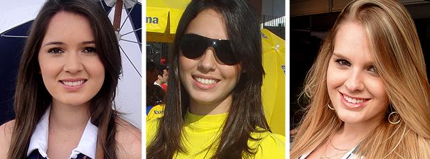 MONTAGEM - Gatas da Stock  Bruna Molz Camila Greggo Luana Braga (Foto: Rafael Honório / Globoesporte.com)