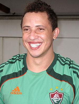 Diogo do Fluminense durante entrevista  (Foto: Fred Huber / GLOBOESPORTE.COM)