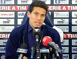 Primeira entrevista coletiva de Hernanes na Lazio