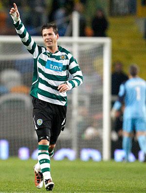 anderson polga comemora gol do sporting sobre o lille