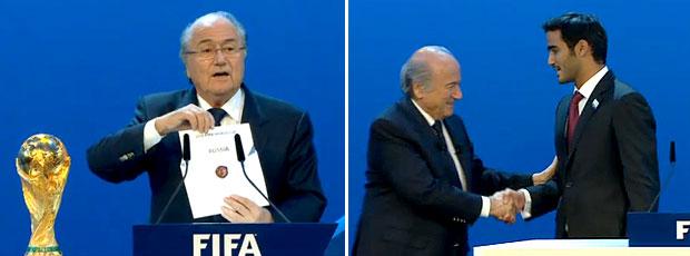 FRAME Copa eleição FIFA Rússia Qatar