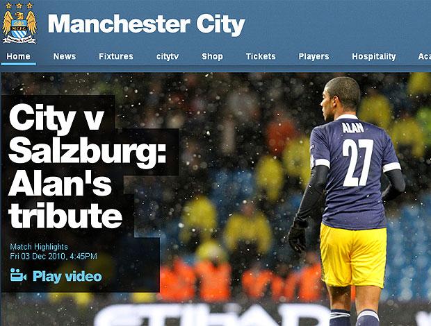Alan recebe homenagem do Manchester City