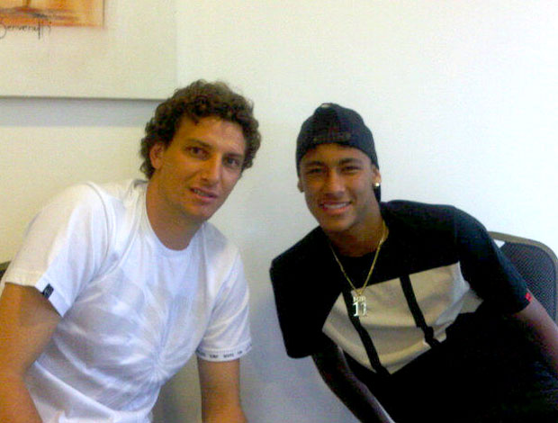 Elano e Neymar do Santos
