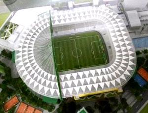 maquete da Arena Palestra do Palmeiras (Foto: Divulgação)
