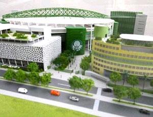 maquete da Arena Palestra do Palmeiras