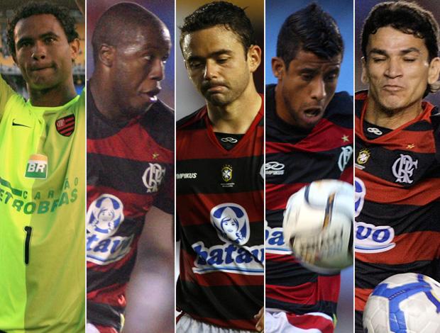 montagem - Bruno, Toró, Juan, Léo Moura e Ronaldo Angelim - flamengo