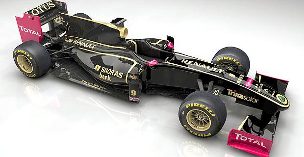 carro da nova equipe Renault Lotus