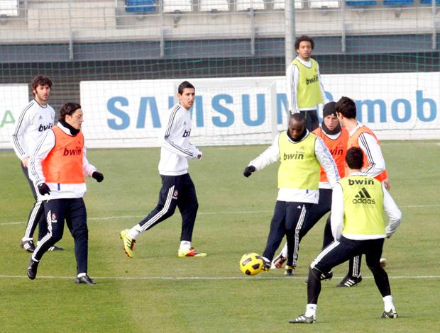Treino do Real Madrid - Granero, Özil, Lass, Sergio Ramos, Marcelo, Di Maria