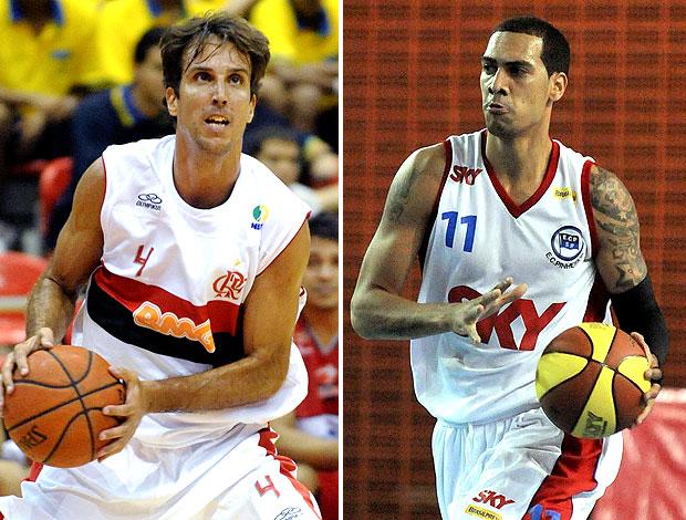 montagem Marcelinho Marquinhos basquete