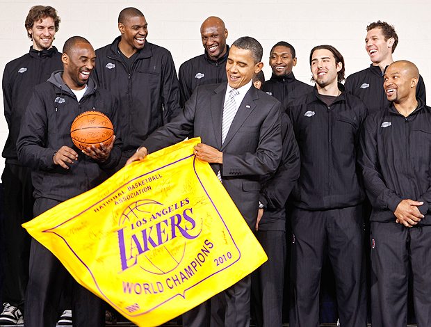 Barack Obama Los Angeles Lakers Washington basquete nba