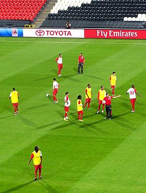 treino do Internacional no estádio Mohammed bin Zayed