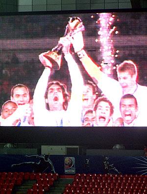 telão mostra Internacional campeão em 2006