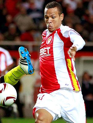 Luis Fabiano na partida do Sevilla contra o Borussia Dortmund