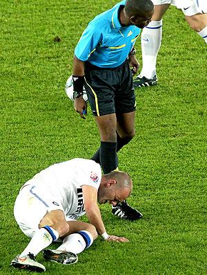 Wesley Sneijder na partida do Inter de Milão