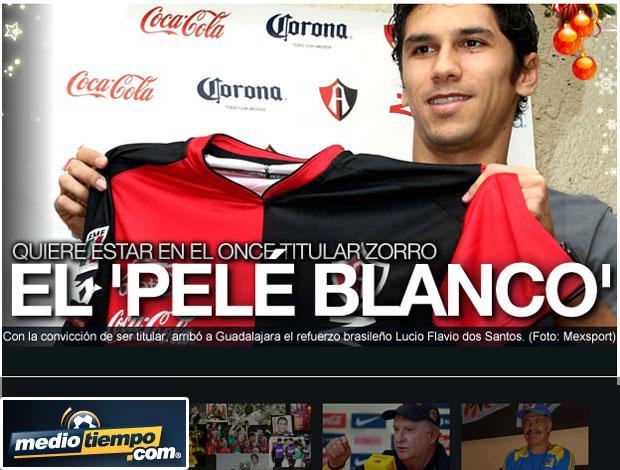 Lucio Flavio Pelé Branco manchete reprodução