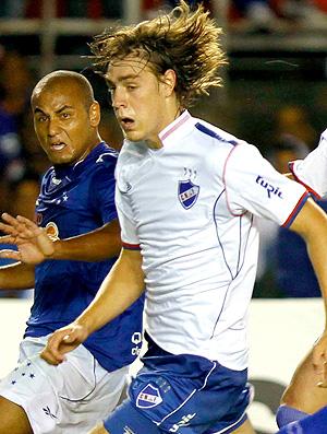 Sebastian Coates na partida contra o Cruzeiro