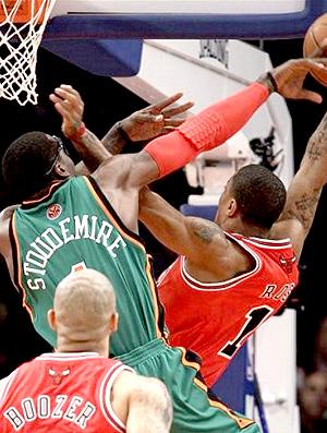 Amare Stoudemire New York Knicks nba basquete Derrick Rose