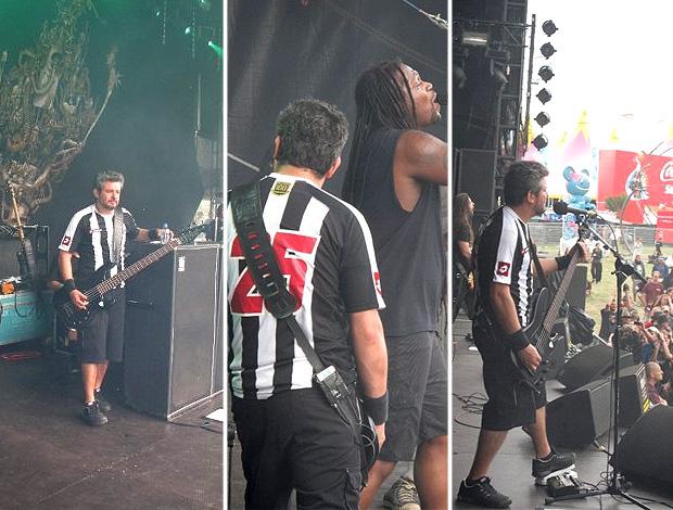 Paulo Jr., baixista do Sepultura, durante turnê pela Europa em 2009