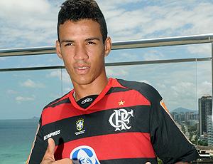 Vander com a camisa do Flamengo