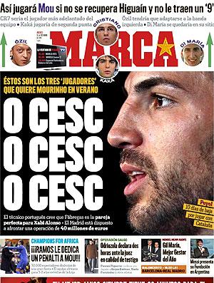 capa Marca interesse Real Madrid em Fábregas