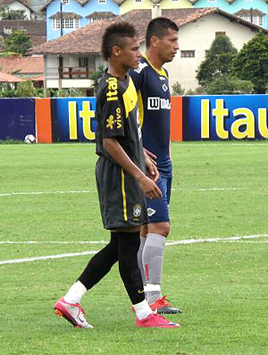 Neymar no treino da seleção sub 20