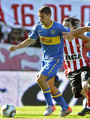 Sebastián Battaglia na partida do Boca Juniors